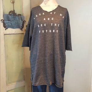 Zara Oversized graphic sweatshirt